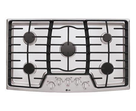LG LCG3611ST 36' Stainless Steel Gas Sealed Burner Cooktop