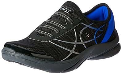 Bzees Women's ath Leisure Casual Slip on Shoe Lava Shoe, Black Heather, 5