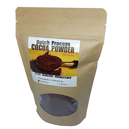 Gerkens Cocao 22/24% Alkalized Dutch Processed Cocoa Powder Unsweetened Rich Aroma Dark Brown (8 oz) (Best Dutch Processed Cocoa Powder)
