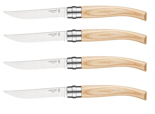 - Opinel Chic Stainless Steel Table Knife Set, Ash Wood