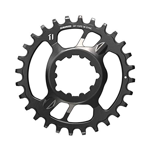 (SRAM X-Sync 2 Steel Direct Mount Chainring - Boost Black, 30T, 3mm Offset)