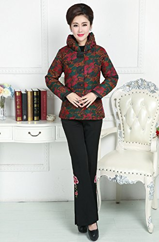 100% Mulberry Silk Womens Tang Suits Cotton-padded Jackets Chinese Coats Womens Jackets by Womens Tang Suit (Image #5)