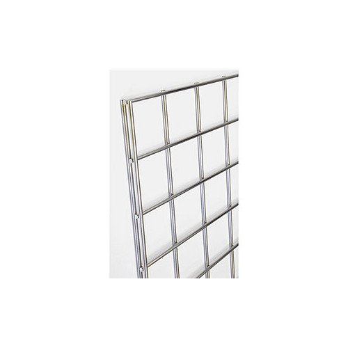 - Count of 3 New Retails chrome Gridwall panel 2 feet width x 6 feet height