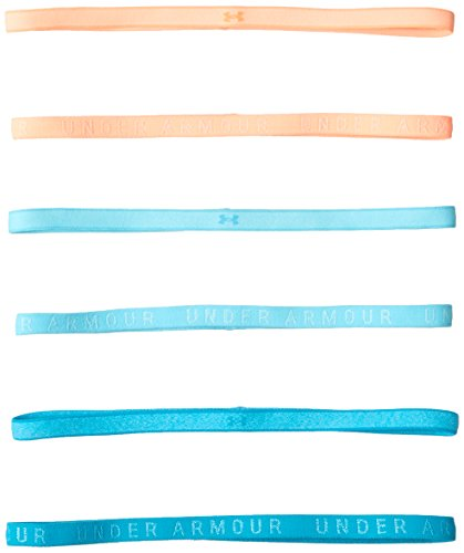 Under Armour Women's Heathered Mini Headbands - 6 Pack, Venetian Blue (448)/Venetian Blue, One Size