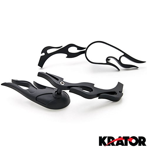 Krator Flame Custom Black Motorcycle Rea - Custom Motorcycle Flames Shopping Results