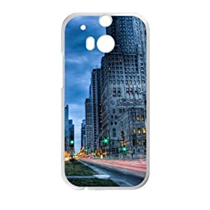 City streets road tilt shift Custom case cover for HTC One M8 by ruishername