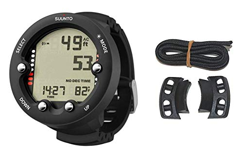 Suunto Zoop Novo Black Dive Computer Watch & Vyper Novo Bungee Adaptor Kit