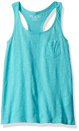 The Children's Place Big Girls' Tank Top, Sea Frost 82085, L (10/12)