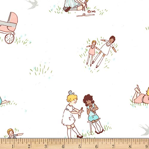 Michael Miller Best of Sarah Jane Flannel Dolls Fabric, Soft, Fabric By The Yard