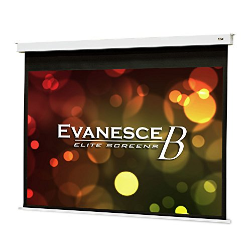 White Series Glass 180 (Elite Screens Evanesce B Series, 100-inch Diagonal 4:3, Recessed In-Ceiling Electric Projector Screen with Installation Kit, 8k/4K Ultra HD Ready MaxWhite FG a Matte White with Fiberglass Reinforcement Projection Screen Surface, EB100VW2-E12)
