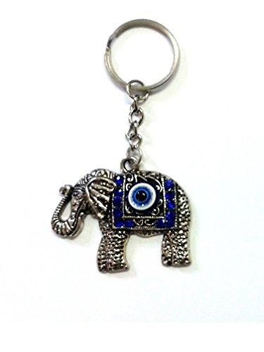 Desconocido Llavero elefante con ojo turco: Amazon.es ...