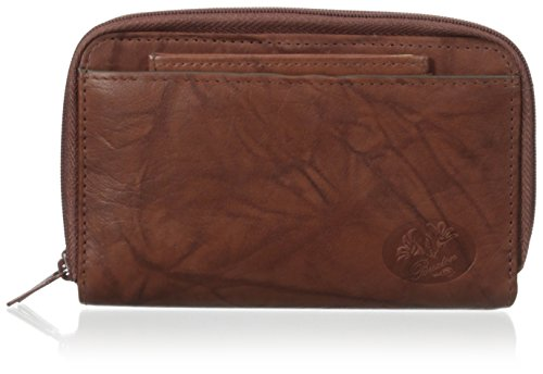 Buxton Women's Heiress Double Zip Organizer, Mahogany, One - Wallets Buxton Ladies