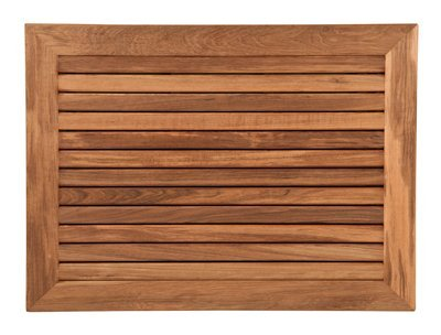 Plantation Teak Bath Mat with Wide Frame (30