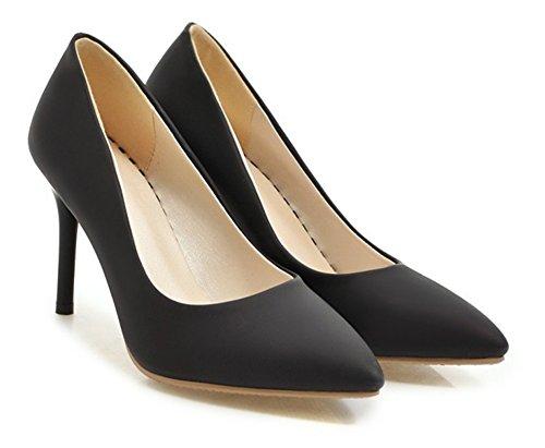 Aisun Couleur Femme Escarpins Unie Pointu Classique Bout Noir f76qIfr