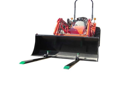 Light Duty Pallet Forks 1400 Lbs Lift Capacity, Won't Harm Bucket Exclusive Clamp Pad Design