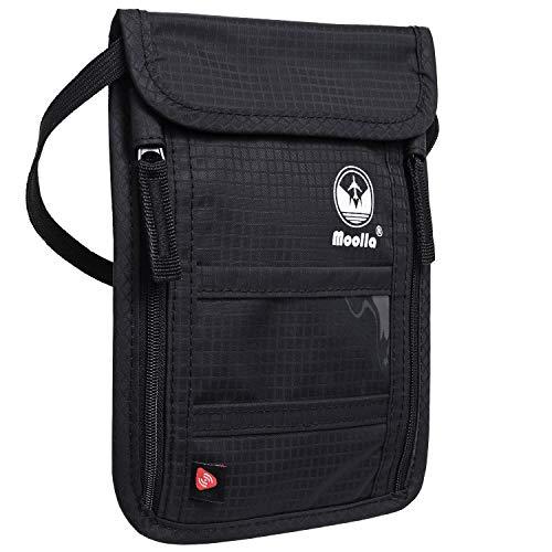 Passport Holder - Neck Wallet & RFID Travel Wallet for Women Men - Travel Pouch Travel Accessories