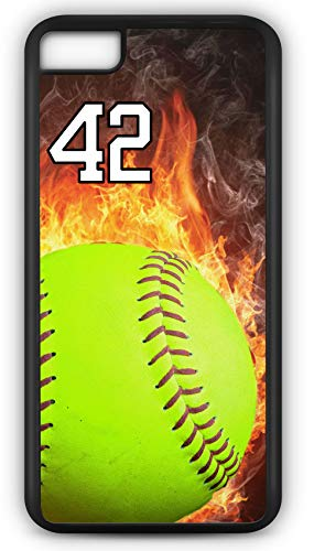 iPhone 6s Phone Case Softball S123Z by TYD Designs in Black Plastic Choose Your Own Or Player Jersey Number 42