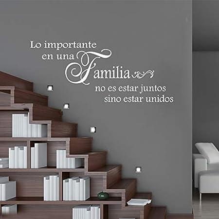 Vinilos De Pared Frases Etiqueta engomada de la familia española junto etiqueta de la pared del