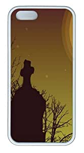 Cemetery Sky11 TPU Case Cover for iPhone 5 and iPhone 5s White