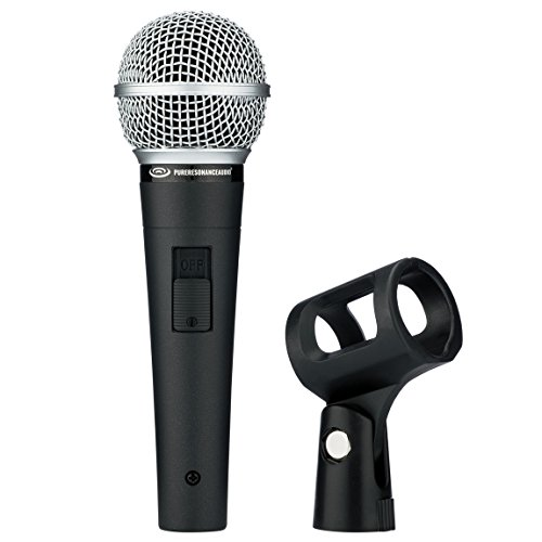 - Pure Resonance Audio UC1S Ultra-Clear Dynamic Vocal Microphone with Switch