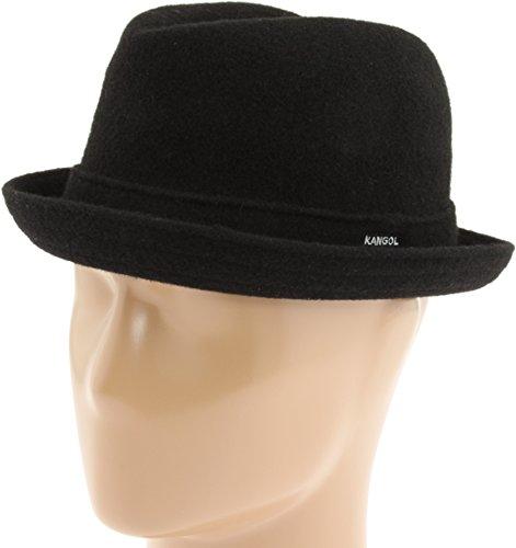 (Kangol Men's Wool Player Cap, Black, L)