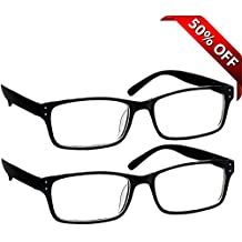 Black Computer Reading Glasses 0.00 _ Protect Your Eyes Against Eye Strain, Fatigue and Dry Eyes from Digital Gear with Anti Blue Light, Anti UV, Anti Glare, and are Anti Reflective