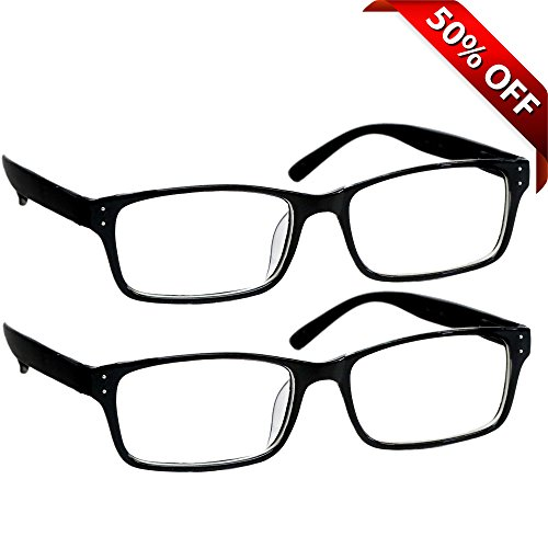 Black Computer Reading Glasses 1.50 _ Protect Your Eyes Against Eye Strain, Fatigue and Dry Eyes from Digital Gear with Anti Blue Light, Anti UV, Anti Glare, and are Anti - Titanium Reading Personal Glasses Optics