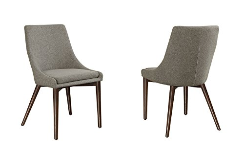 Homelegance 5048S Fabric Accent/Side Chair, Grey, Set of 2 - Fillmore collection; grey fabric seat with zipper at the back Contemporary style Removable seat cushion and cover - kitchen-dining-room-furniture, kitchen-dining-room, kitchen-dining-room-chairs - 41oWer4NRIL -