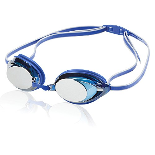 Speedo Vanquisher 2.0 Mirrored Swim Goggle, Blue, One Size