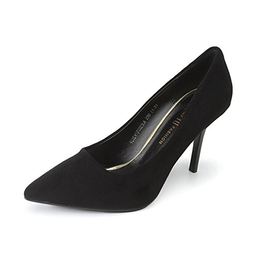 PUMPS Damen High Heels,Fine Heel Flacher Mund Spitze Schuhe-A Fußlänge=22.8CM(9Inch)