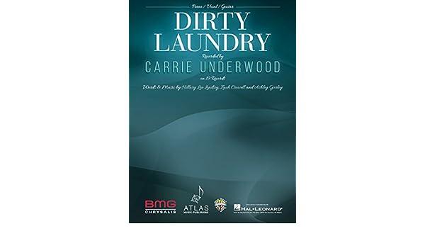 Amazon Carrie Underwood Dirty Laundry Sheet Music Single