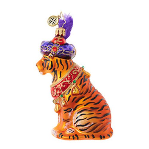 Christopher Radko Beguiling Tiger Animal Christmas Ornament by Christopher Radko