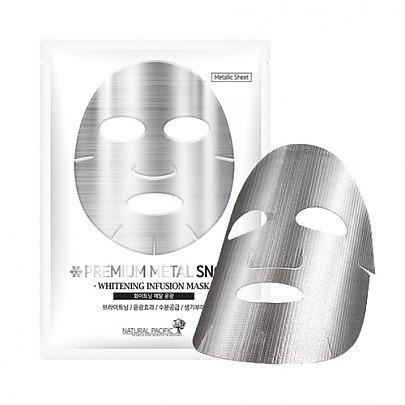 Natural Pacific Premium Metal Snow Mask X 10 Silver Coating Sheet  25 Gram