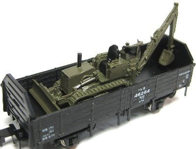 1/150 貨車用積荷 小型ドーザー 2台セット Nゲージ