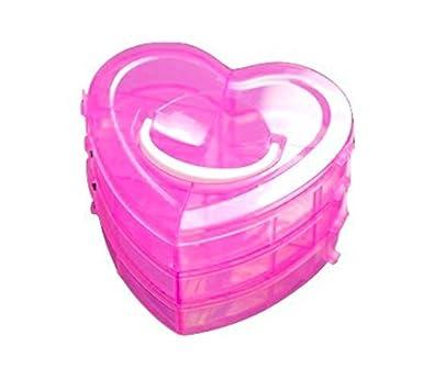 f58cc5f5c Homies International, 3 Layers, 18 Grids, Transparent Plastic Jewellery  Organizer Storage Compartment Box