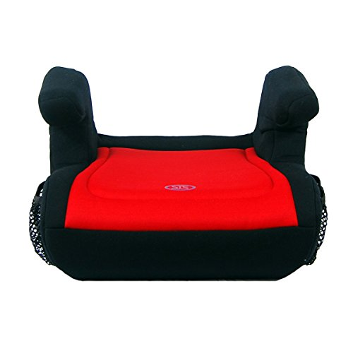 Safe Traffic System Delighter Booster Car Seat, Black/Red, One Size ()