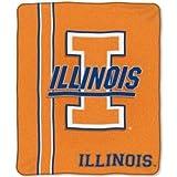 NCAA Illinois Fighting Illini 50-Inch-by-60-Inch Raschel Plush Throw