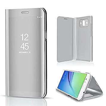 Funda® Espejo Enchapado Flip Huawei P10 Plus (Plata): Amazon.es ...