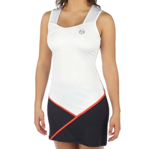 Sergio Tacchini Nevina Women's Dress White/Navy (Medium) (Tacchini Sergio Clothing Tennis)