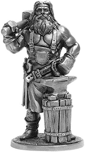 Blacksmith Tin Toy Soldiers Metal Sculpture Miniature Figure Collection 54mm (Scale 1/32) (HL-03)