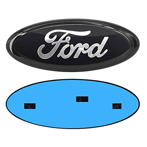 "Carhome01 Ford Front Grille Tailgate Emblem,Oval 9""X3.5"" 2004-2014 F150 Black Decal Badge Nameplate Also Fits for 04-14 F250 F350,11-14 Edge,11-16 Explorer,06-11 Ranger"