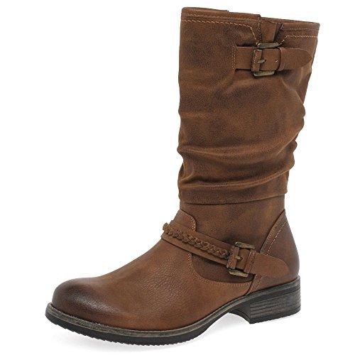 Rieker Estella Womens Calf Length Slouch Boots 36 M EU/ 5.5-6 B(M) US 22 NUT