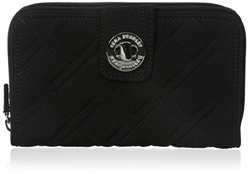 Vera Bradley Turnlock Wallet, Classic Black, One Size ()