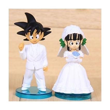 Amazon.com: Dragon Ball Action Figures Goku And Chichi Wedding ...