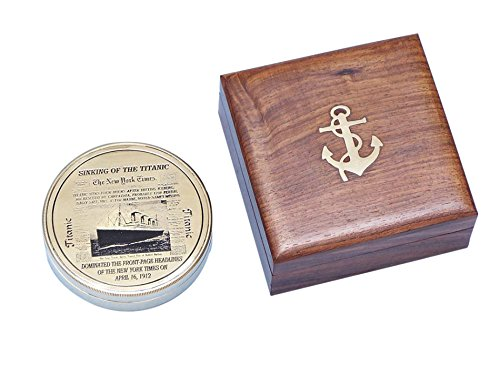 Brass RMS Titanic Limited Compass 4