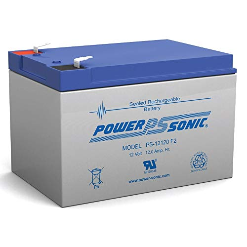 Power Sonic 12V 12Ah F2 Battery for INVACARE Lynx L-3, L-4 Sitting Scooter ()