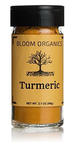Bloom Organics Turmeric USDA Certified Organic, 2.1 oz - Glass Jar
