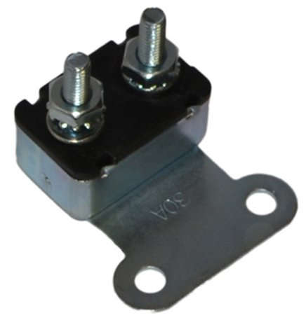 Inline Tube (I-6-2) 30 Amp Firewall Accessory Circuit Breaker Compatible with 1968-72 Oldsmobile All Models that are Convertible, with Power Windows and Seats