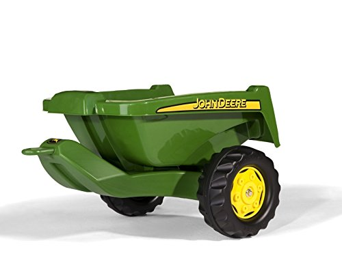rolly toys John Deere Tipper Trailer with Rear Tipping for Pedal Tractor, Youth Ages 3+ (John Deere Pedal Tractor Trailer)