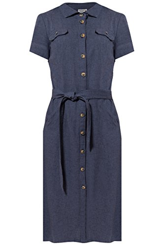 Finn Sportlichem Cosmic in Kleid Flare Damen Blue Design IrSHFr